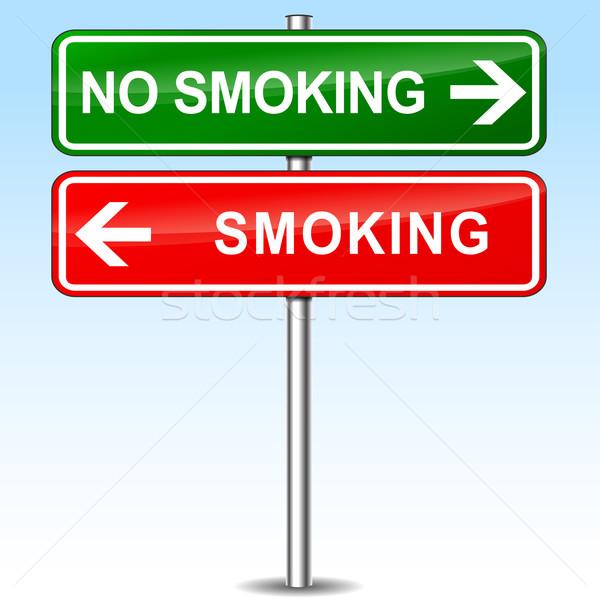 smoking and no smoking directions sign Stock photo © nickylarson974