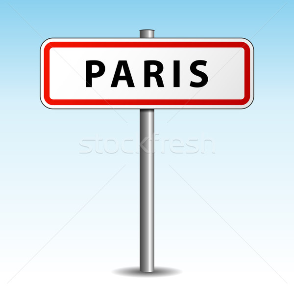 Vektör Paris tabelasını gökyüzü yol dizayn Stok fotoğraf © nickylarson974
