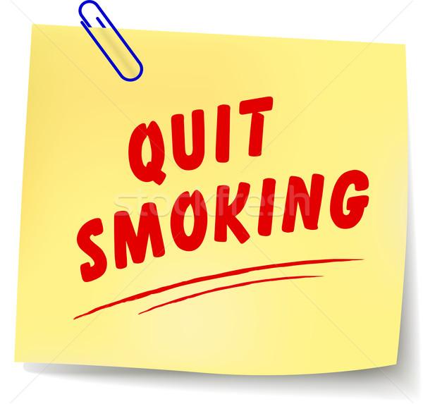 Vector quit smoking message Stock photo © nickylarson974