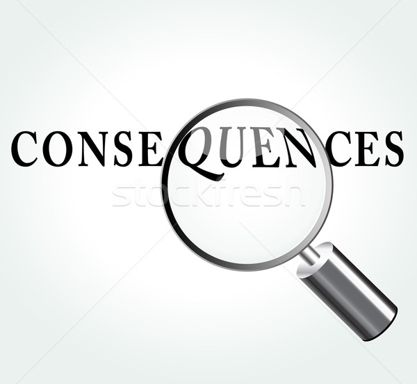 Vector consequences concept illustration Stock photo © nickylarson974
