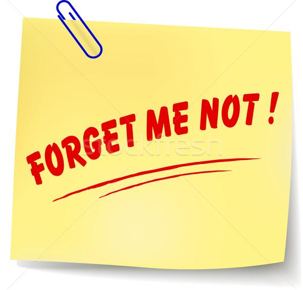 Vector forget me not message illustration Stock photo © nickylarson974