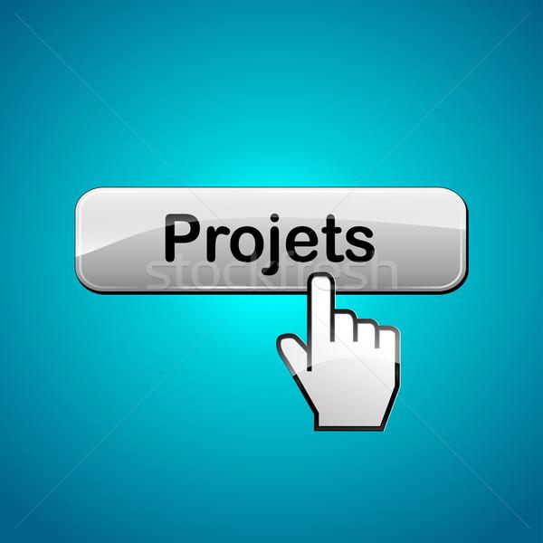 Vector projects web button Stock photo © nickylarson974