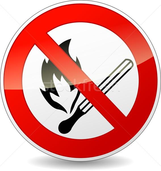 Stock photo: Vector no flame sign