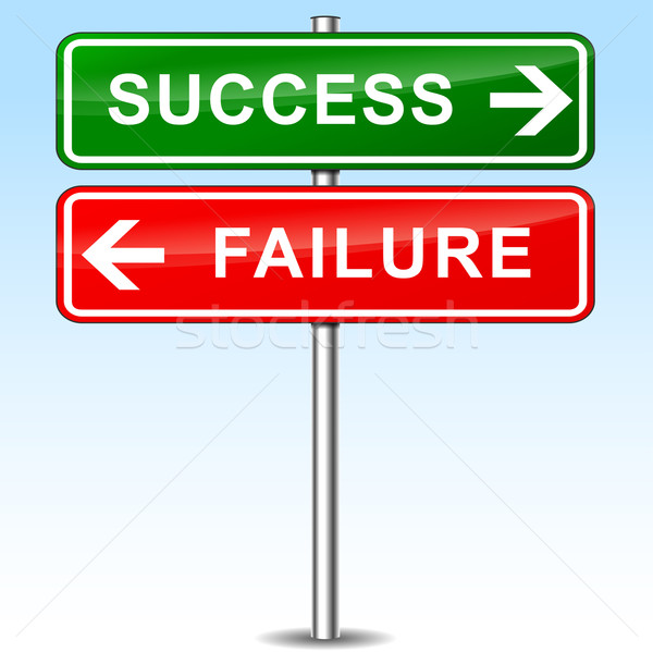 success and failure directional signs Stock photo © nickylarson974