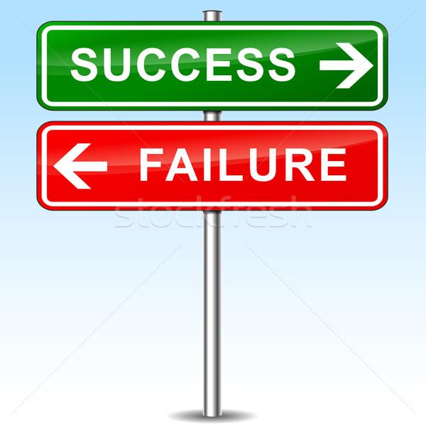 éxito fracaso signos ilustración resumen metal Foto stock © nickylarson974