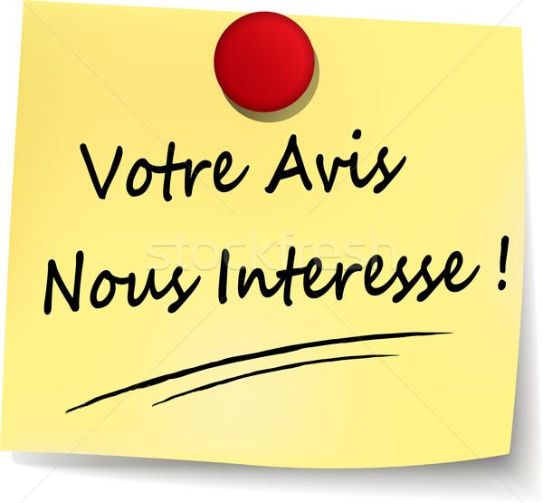 Umfrage gelb beachten Französisch Übersetzung Illustration Stock foto © nickylarson974