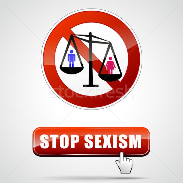 stop sexism sign Stock photo © nickylarson974