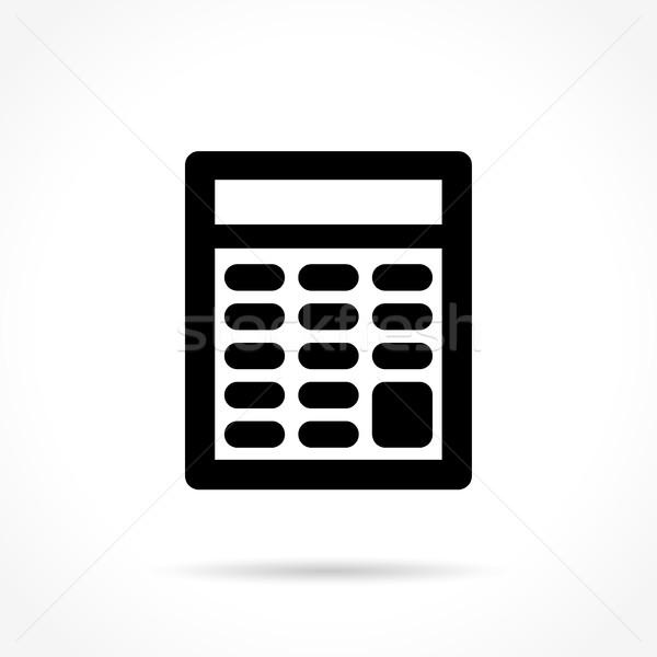 calculator icon on white background Stock photo © nickylarson974