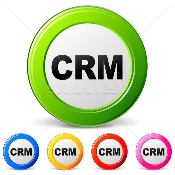 вектора crm иконки белый веб зеленый Сток-фото © nickylarson974