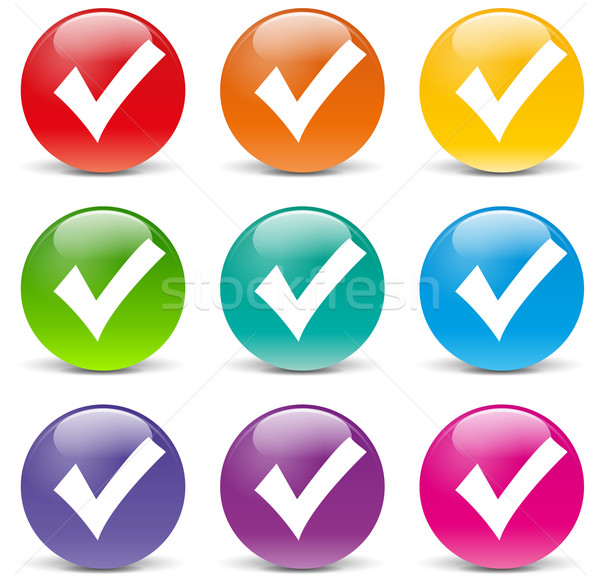 Vector checkmark icons Stock photo © nickylarson974