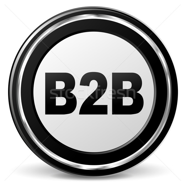 Vector b2b icon Stock photo © nickylarson974