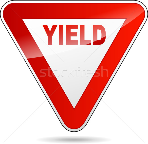 Yield sign Stock photo © nickylarson974