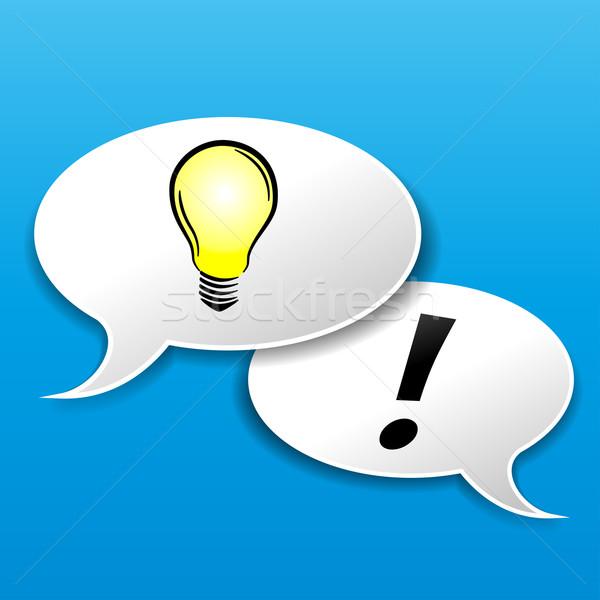 idea speech bubble with bulb Stock photo © nickylarson974