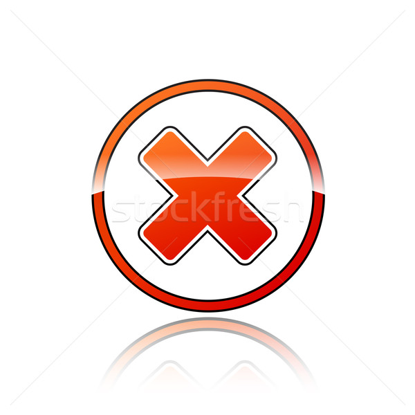 red cross icon Stock photo © nickylarson974