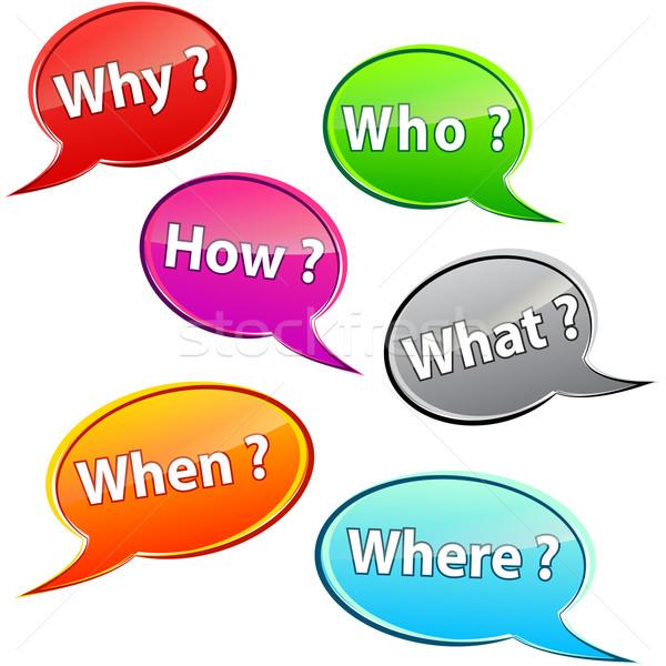 Questions bubbles Stock photo © nickylarson974
