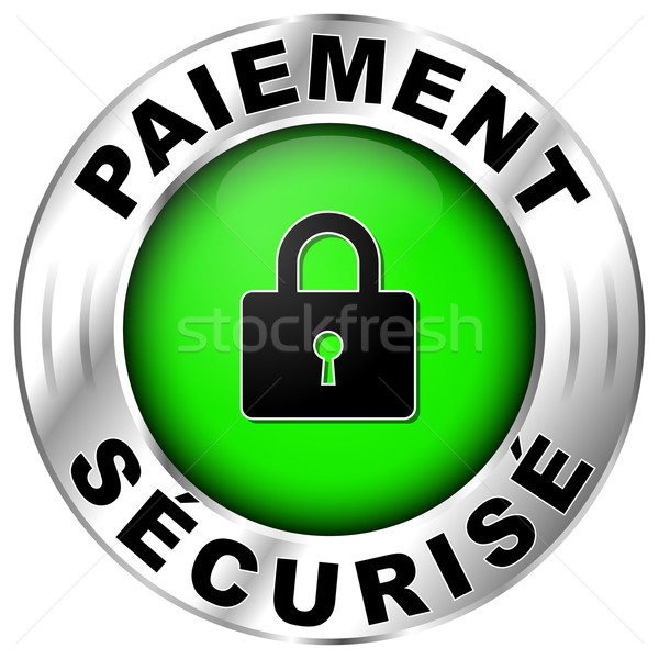 french label for payment Stock photo © nickylarson974