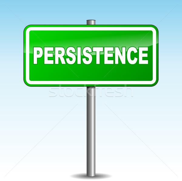 Vector persistence signpost Stock photo © nickylarson974