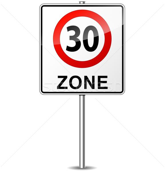 вектора ограничение скорости знак город улице дизайна Сток-фото © nickylarson974