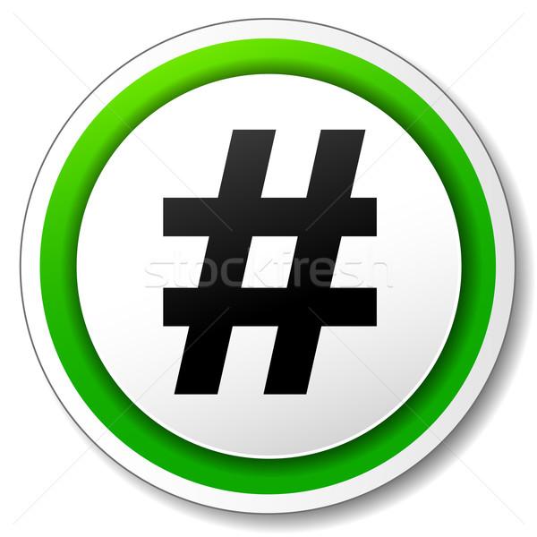 Vector hashtag icon Stock photo © nickylarson974