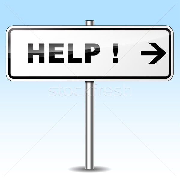 help directional sign Stock photo © nickylarson974
