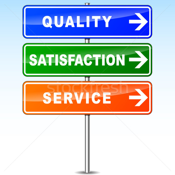 quality satisfaction and service Stock photo © nickylarson974