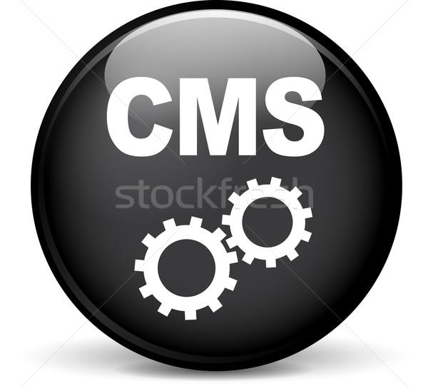 Cms ícone ilustração moderno projeto preto Foto stock © nickylarson974