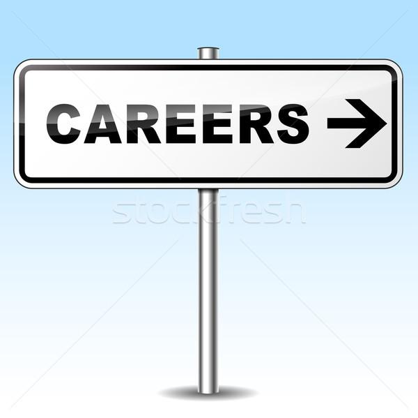 careers directional sign Stock photo © nickylarson974