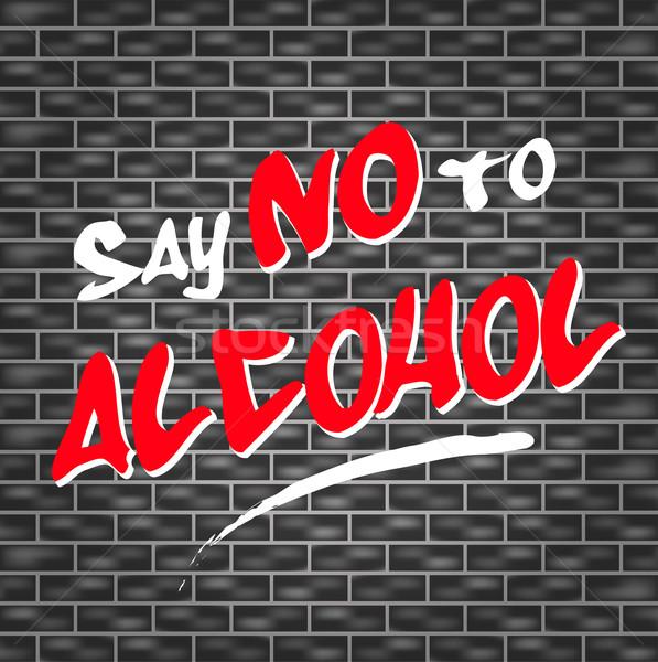 Não álcool ilustração grafite abstrato pintar Foto stock © nickylarson974