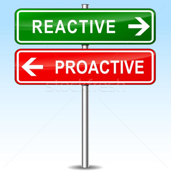 Proactivo instrucciones signo ilustración calle diseno Foto stock © nickylarson974