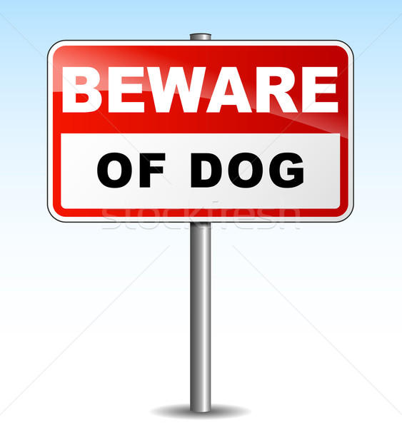 Vector beware dog illustration Stock photo © nickylarson974