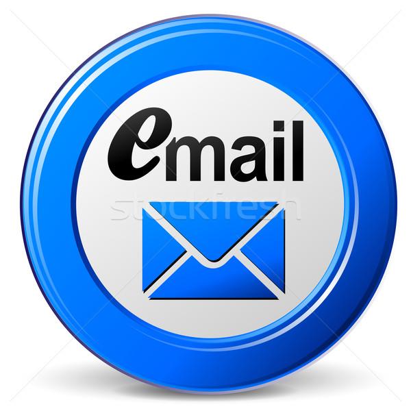 Vektor blau Mail Symbol weiß Business Stock foto © nickylarson974