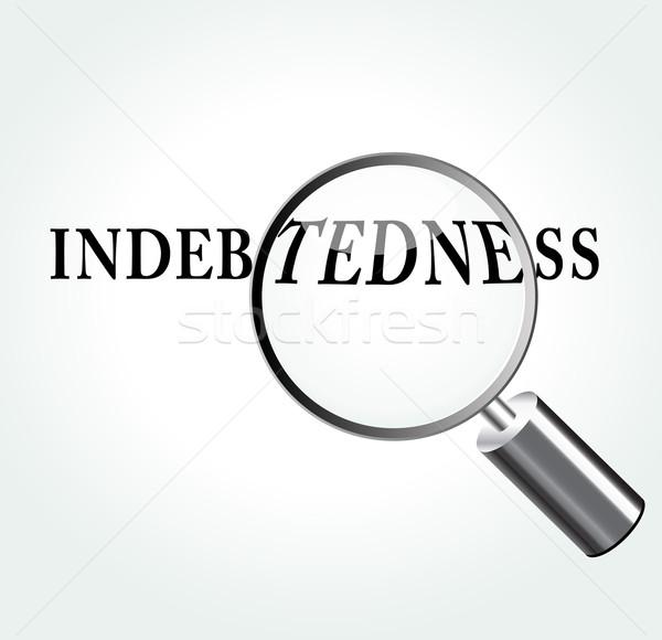 Vector indebtedness concept illustration Stock photo © nickylarson974