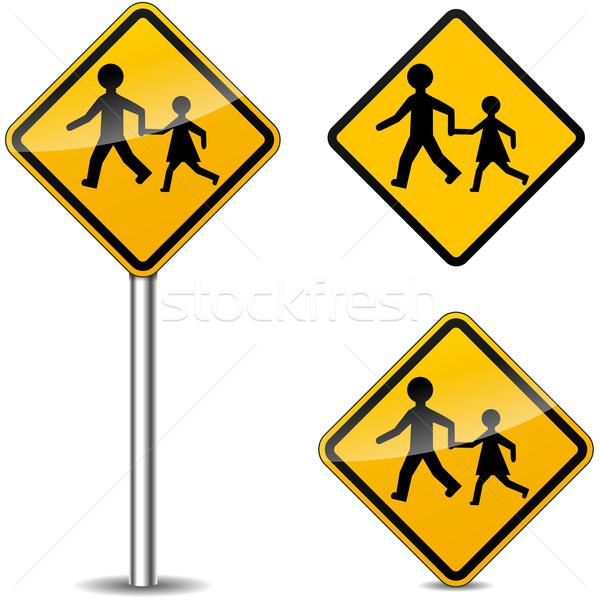 Vector pedestrians signs Stock photo © nickylarson974
