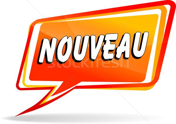 Nieuwe oranje ontwerp toespraak frans vertaling Stockfoto © nickylarson974