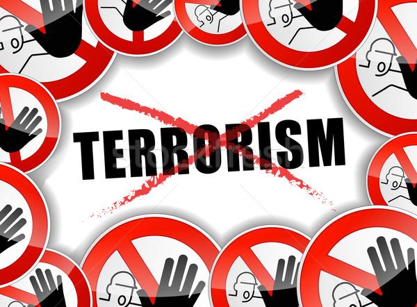Pas terrorisme illustration design fond lutte Photo stock © nickylarson974