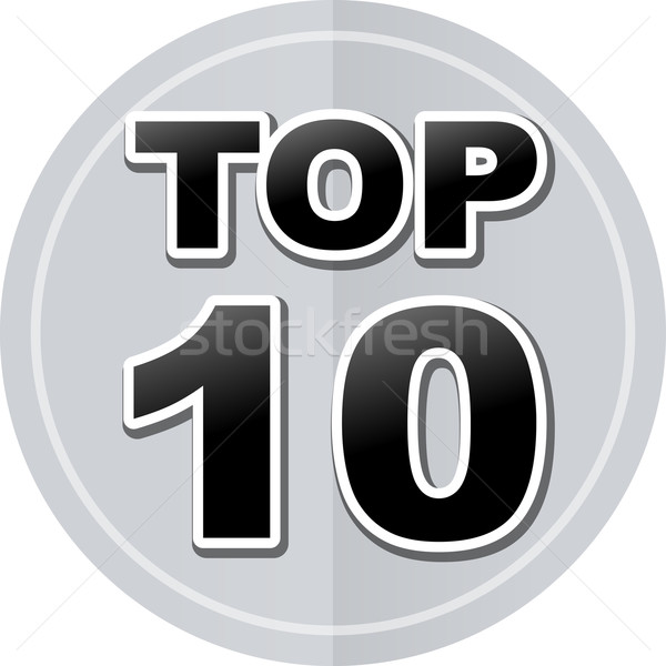 top ten sticker icon Stock photo © nickylarson974