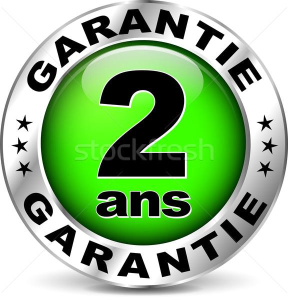 Stock fotó: Zöld · garancia · ikon · francia · fordítás · illusztráció