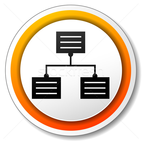 Analytics oranje icon illustratie witte ontwerp Stockfoto © nickylarson974