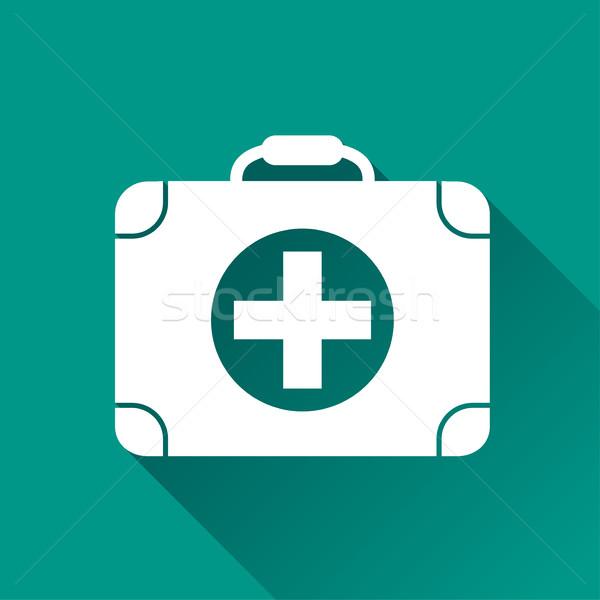 Orvosi ikon terv illusztráció árnyék internet Stock fotó © nickylarson974