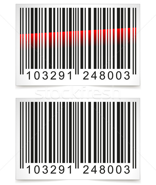 Vector barcode tag witte business technologie Stockfoto © nickylarson974