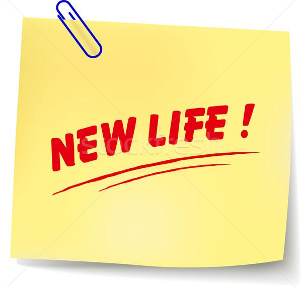Vektör yeni hayat mesaj kâğıt beyaz sağlık Stok fotoğraf © nickylarson974