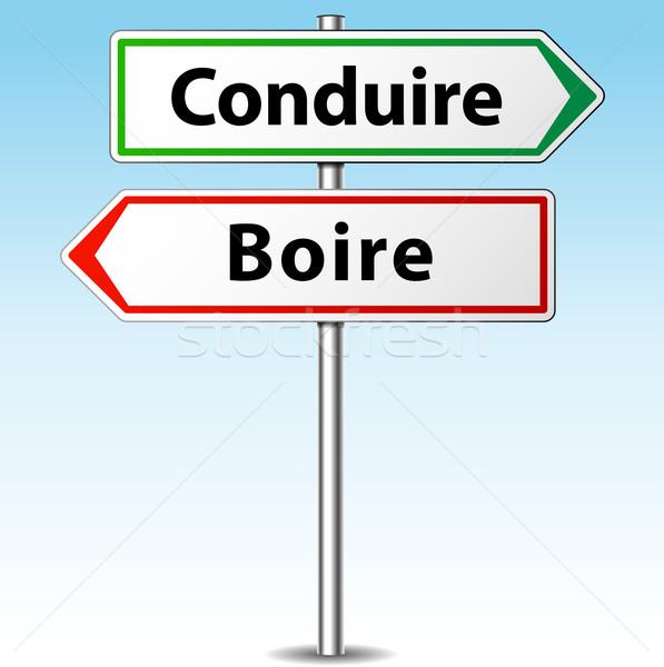 Ital vezetés felirat francia fordítás ittas vezetés Stock fotó © nickylarson974