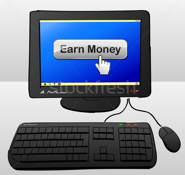 earn money computer Stock photo © nickylarson974