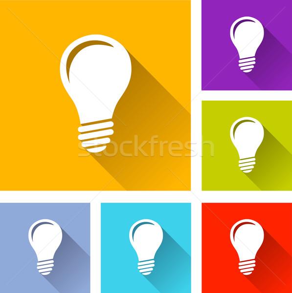 lightbulb icons Stock photo © nickylarson974