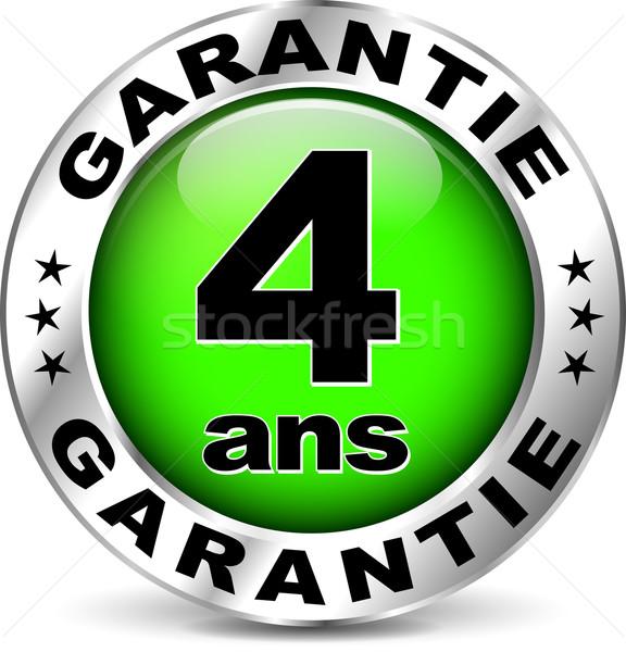 Verde garantia ícone francês tradução ilustração Foto stock © nickylarson974