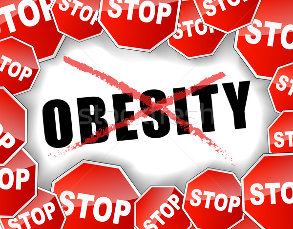 Stop obesità abstract design salute rosso Foto d'archivio © nickylarson974