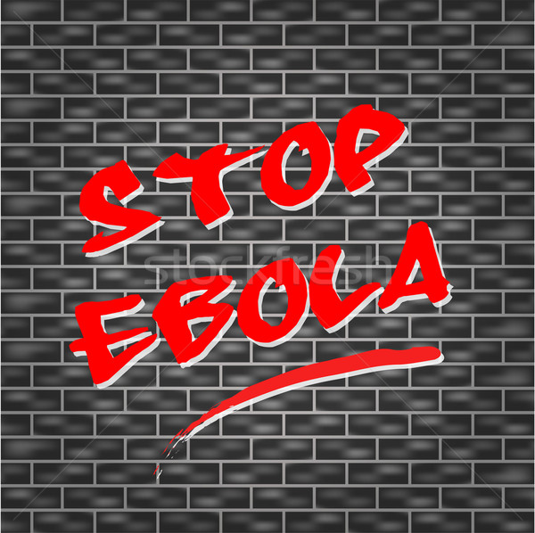 Vector stop ebola concept Stock photo © nickylarson974