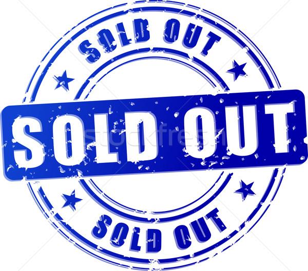 sold out blue stamp Stock photo © nickylarson974