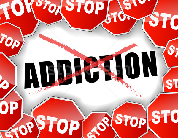 Stock photo: Stop addiction
