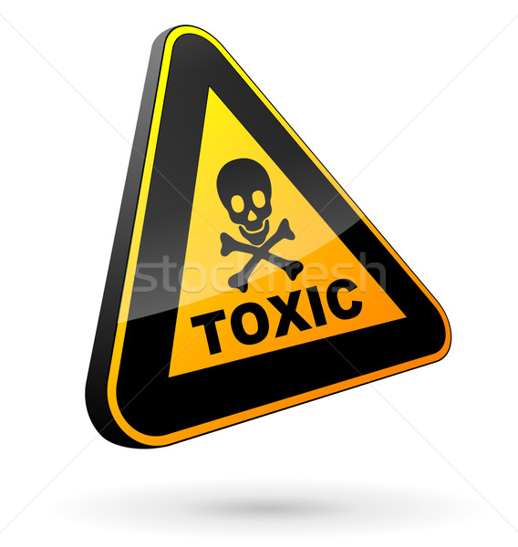 toxic sign 3d Stock photo © nickylarson974